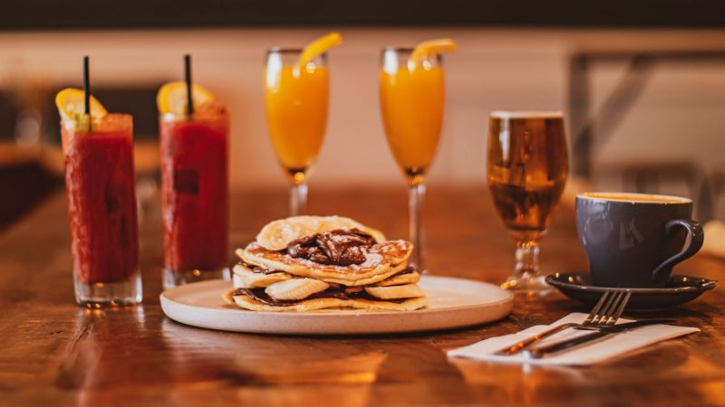 Pancakes and drinks at & Company