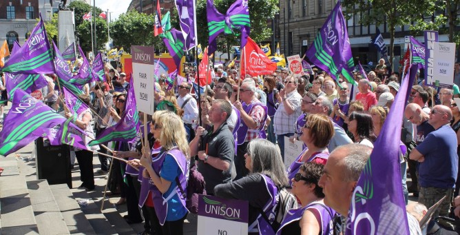 Pay and Pensions Strike Leeds Protests