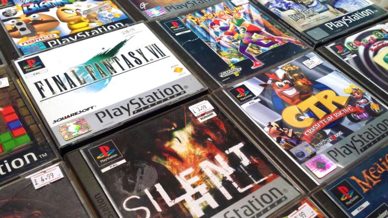 Playstation games at Collectorabilia andVideo Game Market, Leeds Town Hall