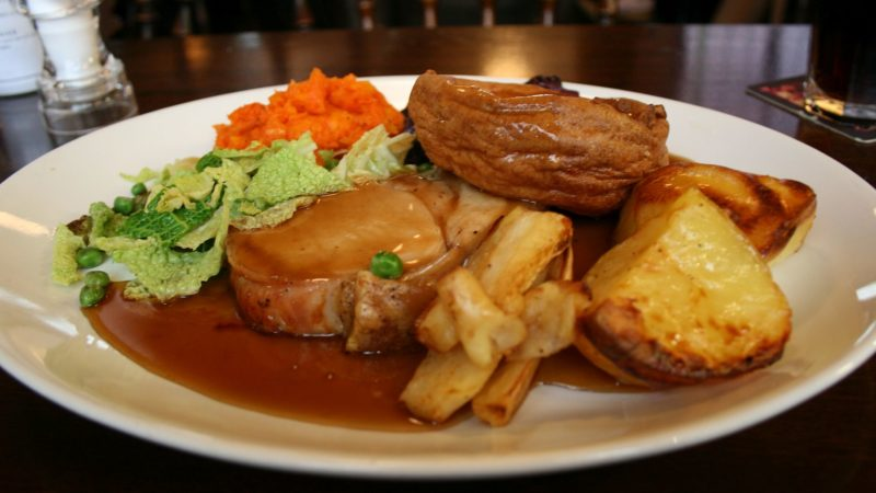 Roast pork loin at Whitelock's, Leeds