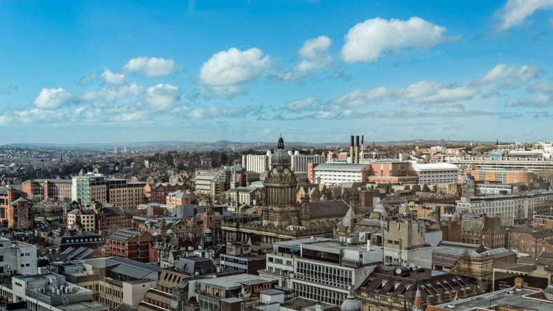 Leeds Town Hall view from Pinnacle