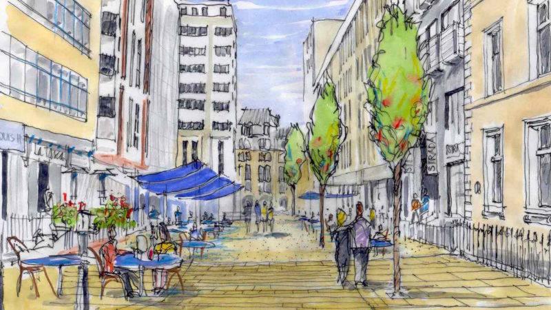 Greek Street Pedestrianisation