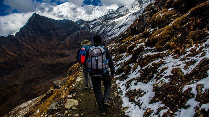 Hiking, trekking, mountains, walking