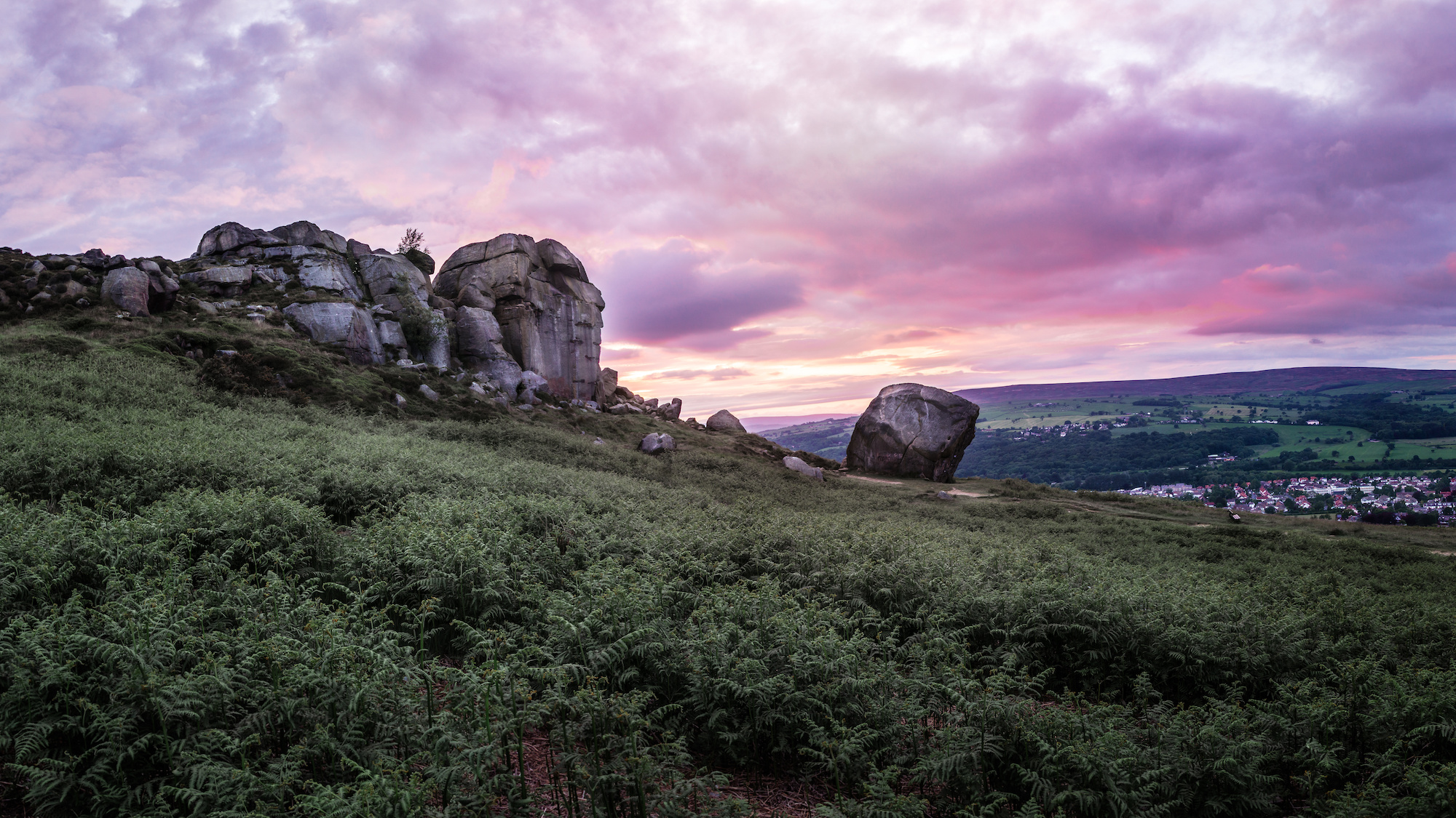 Sunset at Cow and Calf