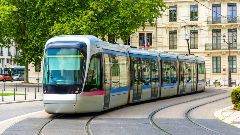 Modern tram of Grenoble - France, Rhone-Alpes
