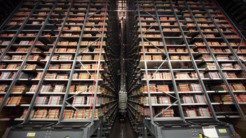 Storage of new British Library Building at Boston Spa