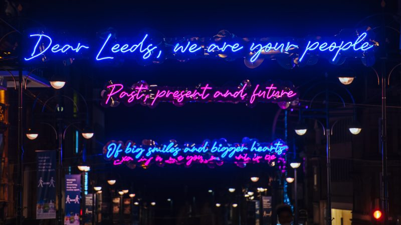 Dear Leeds Light Installation