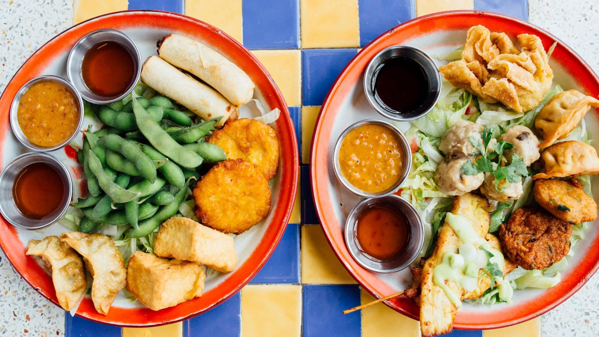 sharing platters at zaap thai