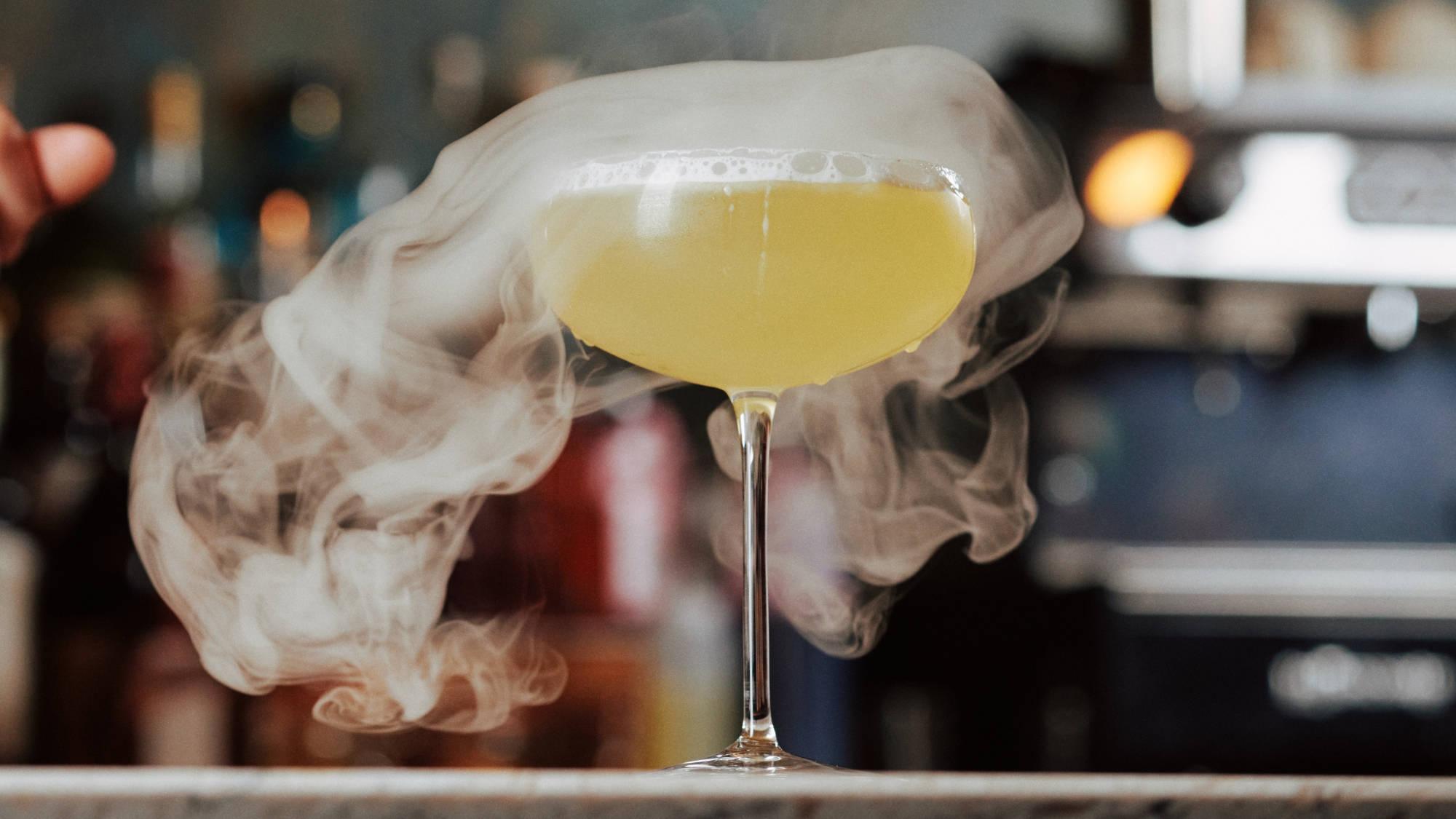 smoking cocktail at farrands
