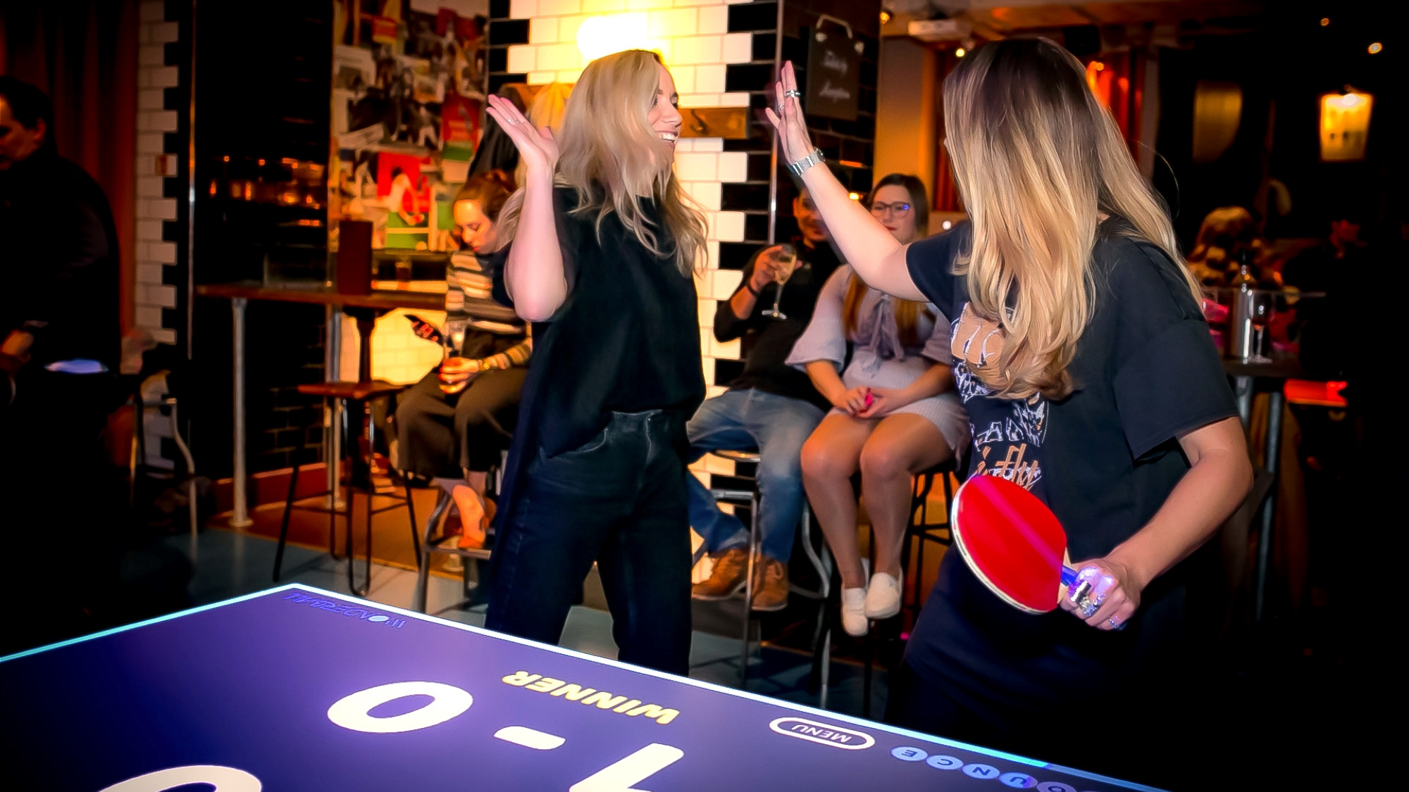 Bounce ping pong bar